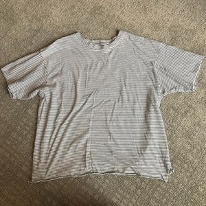 American Eagle Striped Cropped Boxy Tee